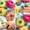 Квіти з тканини для святкового декору - майстер клас