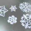 Як складати папір для сніжинок