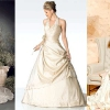 Вибираємо вбрання нареченої: весільна сукня кольору айворі